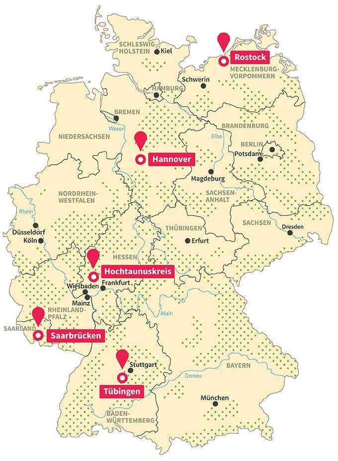 Modellregionen - Grafik: kawe-design.de